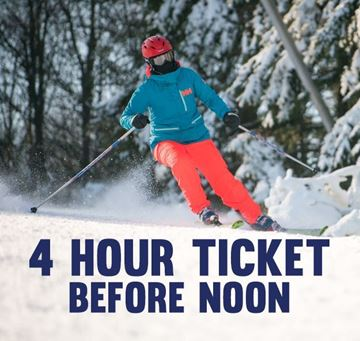 Picture of 4 Hour Morning Lift Ticket (Must Start Before Noon)