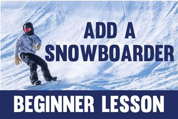Picture of Add Snowboarder- Beginner Lesson